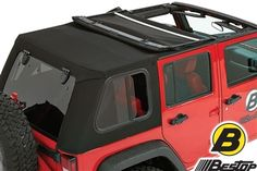 Bestop Trektop Pro Soft Top with Removable Glass Windows For 07-15 Jeep Wrangler JK 4 Door