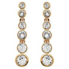 ee87e6824c7a Buy Cachet London Rose Gold Plated Swarovski Crystal Puzzle Drop Earrings  Online at johnlewis.com