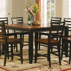 Steve Silver Abaco Counter Height Dining Table In Cherry And Mahogany Finish By Steve Silver Company