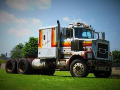 1977 Brockway Truck 759 model, at the 2016 Brockway Truck show. Driven by Jeremy D George, owned by Dane Baldwin of Churchville NY