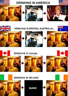 What Drinking Looks Like in America, Australia, Britain, Canada, and Ireland Hetalia, Funny Images, Funny Photos, Meanwhile In Canada, Whatsapp Videos, Drinking Around The World, Funny Bunnies, In Vino Veritas, Gi Joe