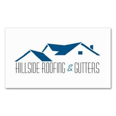 roofing gutters construction business card - Roofing Business Cards
