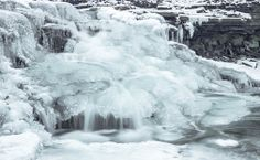 A crystal waterfall at The Hathaway Preserve under heavy ice.- Curtis Henderson