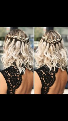 Wedding Hairstyles for Short to Mid Length Hair Prom Hair Hair Hairstyles Length mid Short Wedding Medium Short Hair, Medium Hair Styles, Curly Hair Styles, Prom Hair Medium, Short Wavy, Prom Hairstyles For Short Hair, Down Hairstyles, Hair For Prom, School Hairstyles