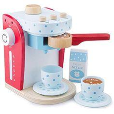 New Classic Toys 10700 - Kaffeemaschine Set aus Holz