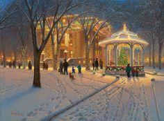 Courthouse Square at Christmas,Prescott, AZ