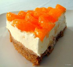 Mandarin & Pineapple Cheesecake - Bursting with flavour and very tasty indeed!  One of my all time favorites! Lovefoodies
