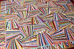 Fandango Quilt Pattern, Art Quilt, Wall Quilt, String Quilt, Scrap Quilt, 66 x 66, You Can Do This! qtm  It looks hard but its not. You can do this! Fans are made by eye. Its fun; this pattern will not drive you crazy. I promise. Buy it and if you dont love it, tell me and Ill send you a refund. Lots of great how-to photos. Eleven pages. Print or Save on your computer.  Includes directions for a corner block that gracefully curves your border. You will like using this in lots of other quilts…