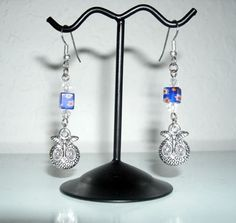 Silver Owl Earrings by HollyNDesigns on Etsy, $6.00
