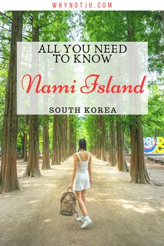 Nami Island is just a short trip from Seoul and a perfect alternative to a day trip from Seoul. Start planning what to do in Nami Island! China Travel Guide, Travel Tips, Travel Articles, Travel Goals, Travel Advice, Travel Ideas, South Korea Travel, Asia Travel, Nami Island