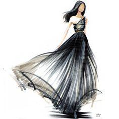 Artist Hodaya Louis Fashion illustration marker