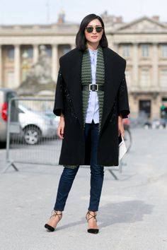 Pin for Later: Here's How Fashion Girls Keep Cozy, No Matter How Cold It Gets Separate Your Layers