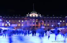 """""""Skate"""" -- Christmas in London. Ice ring in Somerset House. Joy and speed."""