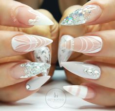 Best Stiletto Nails Designs, Ideas and Tips For You Silver Nails, Glam Nails, Classy Nails, Hot Nails, Bling Nails, Stiletto Nails, Simple Nails, Beauty Nails, Hair And Nails