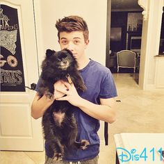 Photo: Bradley Steven Perry With His Dog March 8, 2015 - Dis411