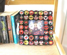 Up-cycled bottlecap picture frame