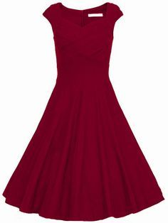 Burgandy Heart Shape Collar Puffball Sleeveless Red Dress