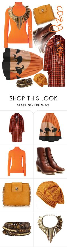 """Orange&brown"" by margosedih ❤ liked on Polyvore featuring Stella Jean, JoosTricot, Chanel, Charlotte Russe and Pal Kepenyes"