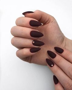 Fall nail art designs you may want to start out with the colorful Fall leaves. The best thing about nail art design match it with Fall Nail Art Designs, Red Nail Designs, Fancy Nails, Trendy Nails, Matte Nails, My Nails, Deep Red Nails, Fall Nail Colors, Hair Colors