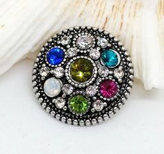 Multi-Colored Charm Crystal Noosa Snap Rivca by SnazzySnapsJewelry