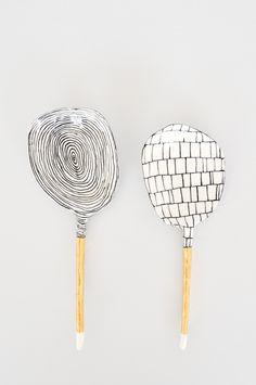 Ceramic Spoon - Gold Stem