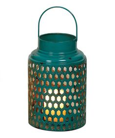 Loving this Blue Metal Lantern on #zulily! #zulilyfinds