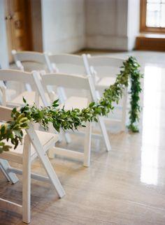 Nashville Wedding Floral Design // Garland as an aisle marker