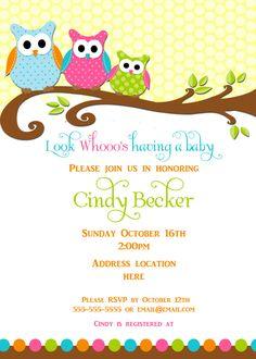 Best Owl Baby Shower Invitations Free Ideas