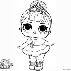 Coloring Pages Lol Surprise from Lol Doll Coloring Pages Printable. Toys LOL are treading the peak of popularity among children throughout the world. Even though the doll inside the LOL Surprise ball is not exactly rev. Unicorn Coloring Pages, Cute Coloring Pages, Free Printable Coloring Pages, Adult Coloring Pages, Coloring Pages For Kids, Coloring Sheets, Coloring Books, Lol Dolls, Copics