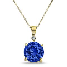 Ebay NissoniJewelry presents - .01CT Diamond Created Sapphire Pendnat in 10k Yellow Gold    Model Number:CP-4999Y055CSA    http://www.ebay.com/itm/.01CT-Diamond-Created-Sapphire-Pendnat-in-10k-Yellow-Gold/221630595573