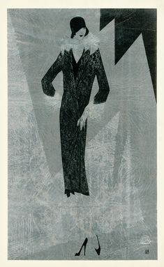 Fitted fur coat with cuffed sleeves. Trade Catalogue | Reynaldo Luza, Revillon Frères