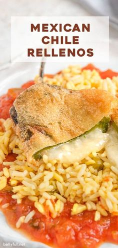 Here is a step by step guide and video to make delicious Mexican Chile Rellenos - deep fried chile peppers stuffed with cheese, and served with a flavorful red sauce. #chilerellenos #chilerellenosrecipe #chilerellenosauthentic #chilirellenos #chilirellenosrecipe #chilirellenosauthentic Mexican Dishes, Mexican Food Recipes, Vegetarian Recipes, Dinner Recipes, Cooking Recipes, Chili Rellenos Recipe, Chili Relleno Casserole, Chile Relleno Sauce, Red Sauce