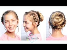 How To: Double Dutch Updo | Pretty Hair is Fun - YouTube