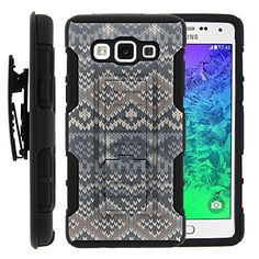 Buy Galaxy A5 Case, Galaxy A5 Holster, High Impact Advanced Double Layered Hard Cover with Built in Kickstand and Belt Clip for Samsung Galaxy A5 SM-A500FU from MINITURTLE   Includes Screen Protector - Native Sweater Pattern NEW for 9.99 USD   Reusell