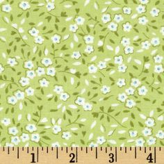 Oh Clementine Mini Floral Green from @fabricdotcom  Designed by Allison Harris for Windham Fabrics, this cotton print fabric is perfect for quilting, apparel, and home decor accents. Colors include white, blue, and shades of green.