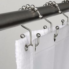 Home Wider Hot Selling New Metal Double Glide Bathroom Shower Curtain Hook Ring Roller Balls Chrome 12 Count Free Shopping Bathroom Mold Remover, Mold In Bathroom, Small Bathroom, Bathroom Ideas, Bathrooms, Bathroom Designs, White Bathroom, Bathroom Renovations, Silver Shower Curtain