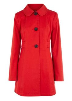 Form Fitted Red Coat