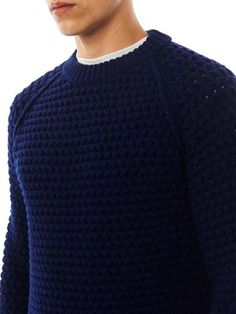 Lanvin Textured chunky knit sweater...its for a man but no one cares