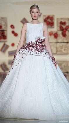 jesus peiro bridal 2017 sleeveless bateau neck ball gown wedding dress (01) mv mirtilli overskirt