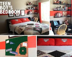 Baseball Teen Boys Bedroom Sport Themes For Teenage
