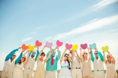 Quirky, Colourful Wedding: Wedding Party