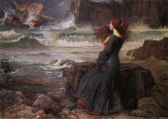 """Miranda"", J. W. Waterhouse, 1916"