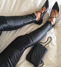 I need some better leather leggings and maybe these shoes while I'm at it