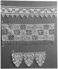 Date:      ca. 1600  Culture:      Italian  Medium:      Needle lace  Dimensions:      L. 12 x W. 5 inches (30.5 x 12.7 cm)