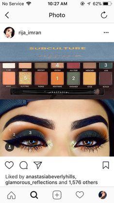41 best ideas for eye shadow palette anastasia subculture Makeup Goals, Makeup Inspo, Makeup Inspiration, Makeup Tips, Beauty Makeup, Makeup Ideas, Queen Makeup, Makeup Tutorials, Makeup Trends