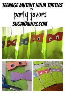 Sugar Aunts: Teenage Mutant Ninja Turtle Party details