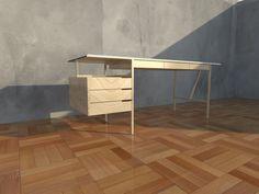 mesa de escritorio con cajoneras Corner Desk, Furniture, Home Decor, Table Desk, Furniture Design, Mesas, Corner Table, Decoration Home, Room Decor