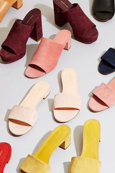 Sapato - Mule - Suede - Camurça