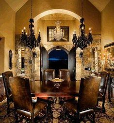 If you are having difficulty making a decision about a home decorating theme, tuscan style is a great home decorating idea. Many homeowners are attracted to the tuscan style because it combines sub… Tuscan Decorating, Interior Decorating, Interior Design, Tuscan Dining Rooms, Dining Sets, Dining Chairs, Dining Table, Kitchen Island Decor, World Decor