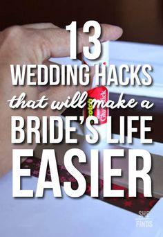 Wedding hacks for brides